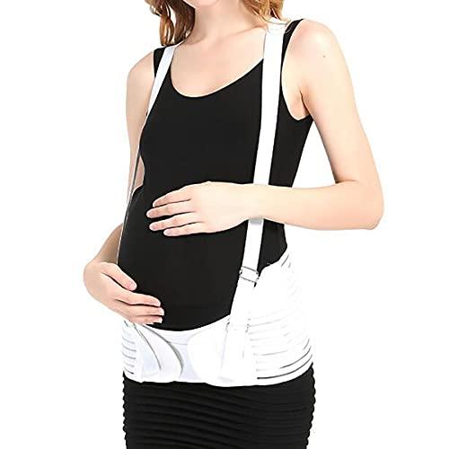 ASFF Schultertyp Taille Support gürtel Sommer atmungsaktive pränatale bauchhalter gürtel bauchhalter gürtel schwanger Frauen gürtel,White-XL