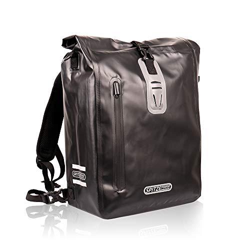 Fahrradtasche für Gepäckträger 25L mit 3 Reflektoren 100% Wasserdichte Fahrrad Gepäckträgertasche, Rucksack, Umhängetasche 3 in Einem Hinterradtasche für Einkaufen, zur Arbeit und Fahrradtour…