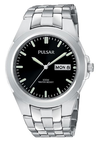 Pulsar Reloj para hombre PXN123 de acero inoxidable en tono plateado