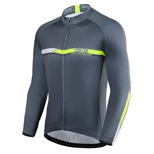 ROTTO Cycling Jersey Men Bike Shirts Long Sleeve Simple Line Series