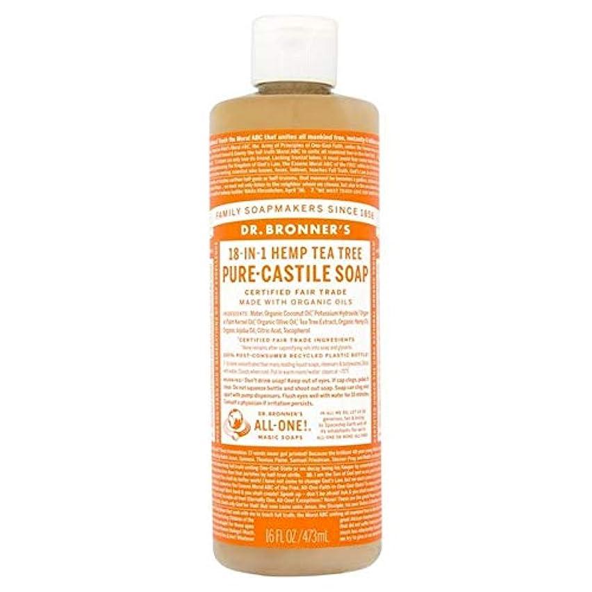 [Dr Bronner] Dr。ブロナーズオーガニックティーツリー純粋-カスティーリャ液体石鹸473ミリリットル - Dr. Bronner's Organic Tea Tree Pure-Castile Liquid Soap 473ml [並行輸入品]