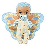 My Garden Baby Mi primer bebé mariposa azul Muñeco de juguete con manta y chupete, regalo para niñas y niños +18 meses (Mattel HBH38)