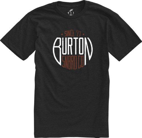Burton t-Shirt Mens Stamp Recycled Small Noir - Heather True Black