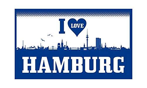 Hamburg - I Love Hamburg Fahne (F70) - 90x150cm