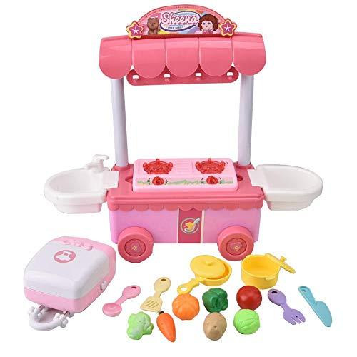 Bicaquu Küchenspielzeug, Mini-Kochgeschirr KochutensilienToys Kochszenen Simulation Kinder Küchenspielzeug Set Lerngeschenk für Kleinkinder Jungen Mädchen