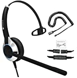 Deluxe Single Ear Headset with Noise Canceling Microphone & Adapter Cable for All Cisco 6000, 7800 and 8000 Series Phones and Models 7931 7940 7941 7942 7945 7960 7961 7962 7965 7970 7975