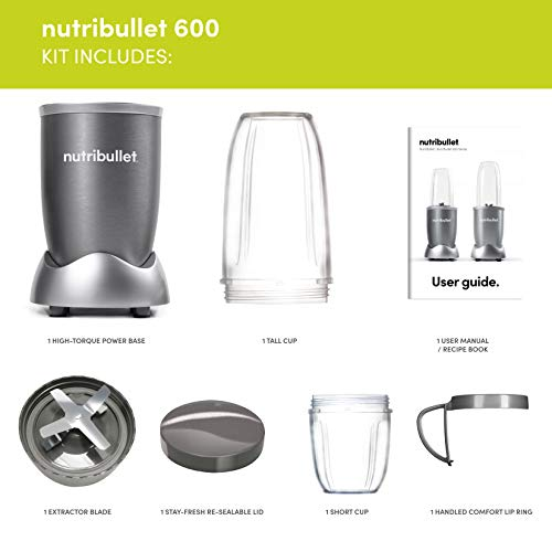 NUTRiBULLET 600 Series - Nutrient Extractor High Speed Blender - 600 W - Graphite