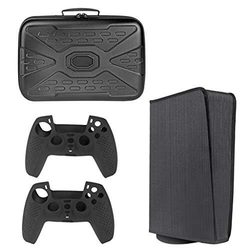 VVXXMO Bolsa de almacenamiento para auriculares con control remoto 3 en 1 + 2 fundas para Gamepad + kit de cubierta a prueba de polvo, consola de estación de juegos