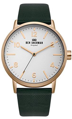 Ben Sherman Herren Datum klassisch Quarz Uhr mit Nylon Armband WB070NBR