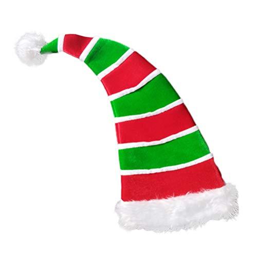 BESTOYARD Weihnachtsmütze, Clownhut, dekorativ, gestreift, Bommel, Kopfschmuck, Weihnachten, Party, Gastgeschenke, Foto-Requisiten