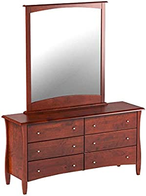 Night & Day Furniture Clove 6 Drawer Dresser in Cherry Finish