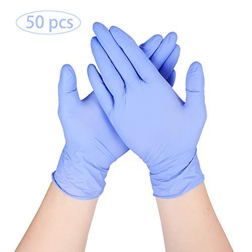 ThxToms 50-100 PCS Guantes desechables para lavar platos, sin látex, guantes de limpieza morados para la cocina y el hogar (M(50 piezas))