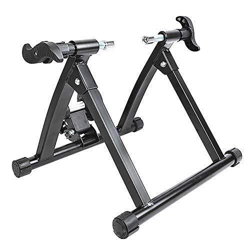 Ffion Bicicleta Soporte De Ejercicio, Bicicleta Entrenador Stand Reducción De Ruido A Caballo De Interior Adecuado para Ruedas de 26-28 Pulgadas