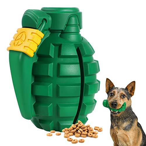 G.C Hund Kauspielzeug Zahnpflege unzerstörbares Hunde Granate Spielzeug Natürliches Gummi Zahnbürste für Mittelgroße Große Hündchen