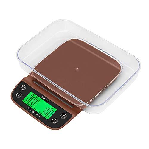 Tubayia Báscula digital de cocina para especias, té, café (café)