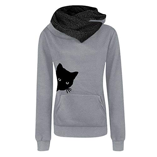 OSYARD Damen long sleeve Knitwear y-03 grau (mit kapuze) xxl
