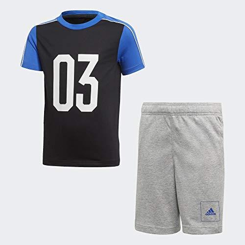 adidas JB A AAC Sum St Conjunto Deportivo, Niños, Negro/Azul/Blanco, 152 (11/12 Años)