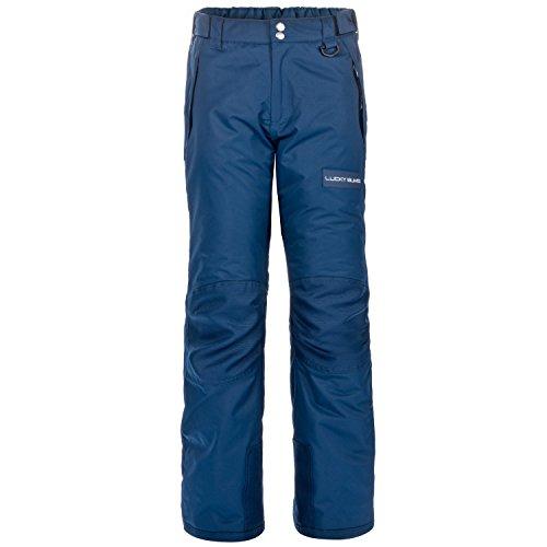 Lucky Bums Kids Ski Snow Pants, Reinforced Knees and Seat, Navy, Medium