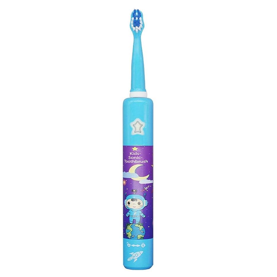 地味なアイロニー最も超音波子供の電動歯ブラシ、デュポンの柔らかい剛毛、音波の粉砕技術、赤ちゃんの振動周波数に合わせて、ボディ防水加工