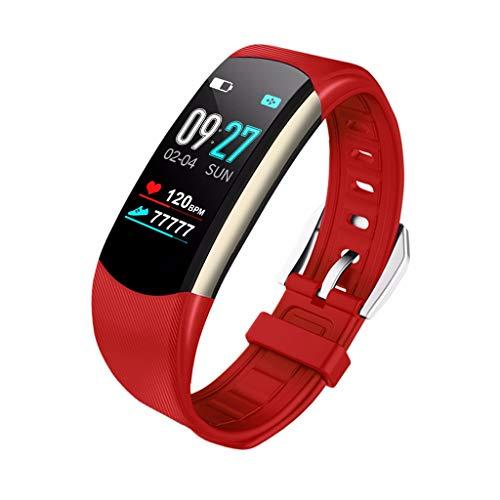 Chenang Fitness Trackers Pulsera Smartwatch Mujer Hombre Podómetro Fitness Reloj Resistente al Agua IP67 Vibrationsalarm Whatsapp Facebook Twitter Llamada SMS atención con iOS Android de Negro