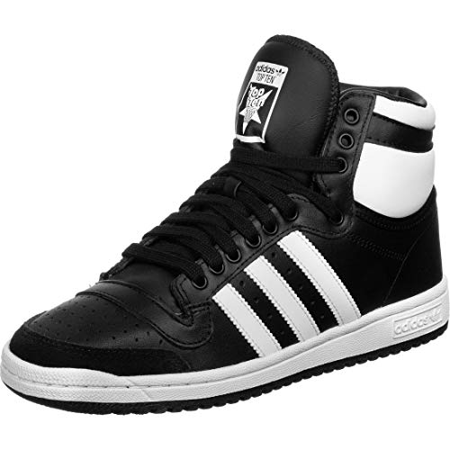 adidas Mens TOP Ten HI Running Shoe, Core Black/FTWR White/Core Black, 41 1/3EU