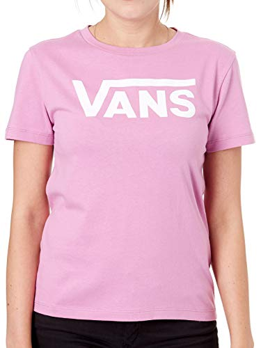 Vans Camiseta Mujer Flying V Crew Violet (S, Morado)