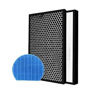Filtro purificatore d'aria FIT for Sharp FZ-A50HFE FZ-A50DFE FZ-A60MFE Parti di ricambio HEPA carbone attivo umidificazione FIT for KC-A50E