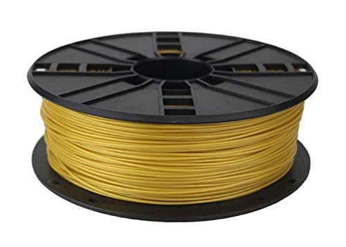 TECHNOLOGYOUTLET FILAMENTO PER STAMPA 3D PREMIUM 1,75 MM PLA, Oro giallo., 1