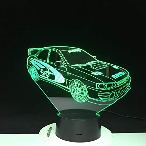Coche Multicolor con Control Remoto para Regalo de cumpleaños a Holograma de luz Nocturna óptica de Lava de batería
