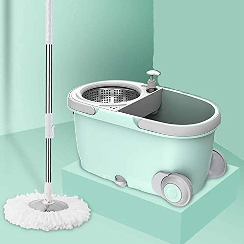 ZXCVBNN MOP, Limpieza para el hogar MOPS Lavar la Limpieza de la fregona Seca con 1pcs Cabezas de MOP adicionales