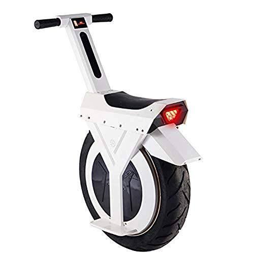 Scooter elettrico da 500 W per adulti Monociclo da motocicletta con ruote singole D2 - Elettrico con grasso singolo da 17 'Pneumatico da 550 lbs Peso massimo con batteria al litio da 60 V,White,90KM