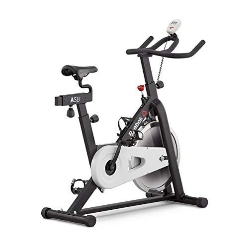 Reebok One AR Sprint Bike - 8 Niveles de inercia - 14 Kg Volante de inercia - 6.5 Kg Sistema de inercia - Peso máximo Usuario 100 Kg - Dimensiones 116x 42x100cm - Pantalla LED - Ruedas de Transporte