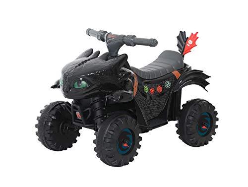 """ROLLPLAY 40341 Mini quad elettrico """"Dragon Trainer"""", Per bambini da 2 anni in su, Fino a max. 20 kg, Batteria da 6 Volt e a 2 km/h, Mini Quad Dragon, Nero"""