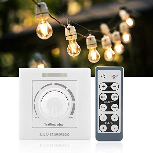 Dimmer per LED con Telecomando IR Telecomando per Telecomando 12 Tasti Regolabile per Luce Domestica da 200W(220V)