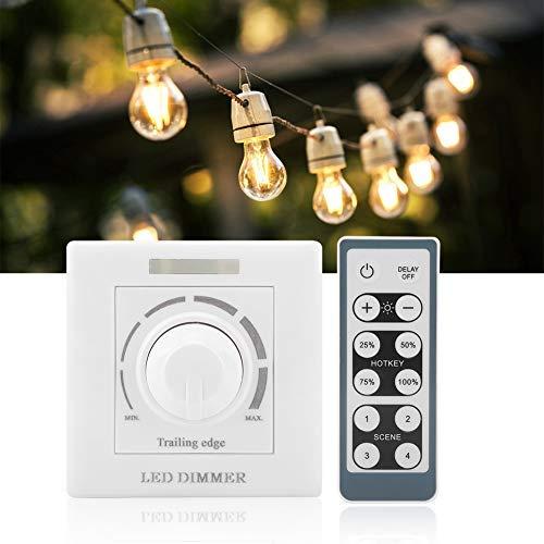 Dimmerschalter, LED-Licht Dimmschalter mit Fernbedienung, für LED bis 200W, 220V, Wandschalter