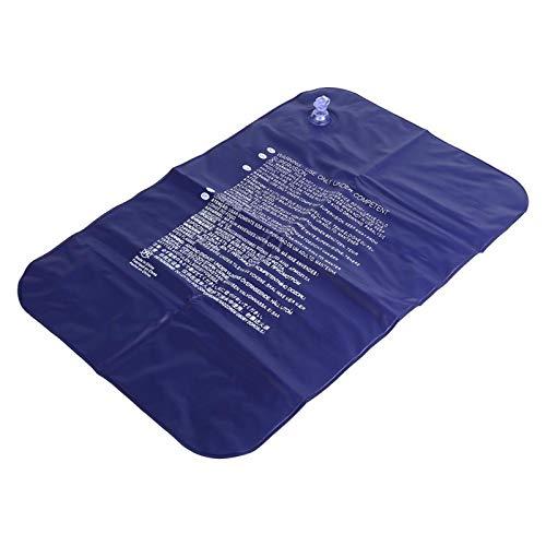 WJIN flocado almohada de tela, Almohada inflable cómoda al aire libre que se reúne la tela de inflado de aire para acampar de viaje
