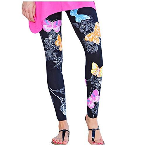 Womens Legging, Women Floral Printed Elastic All-Match Slim Casual Long Boot Pants Leggings for Summer Holiday