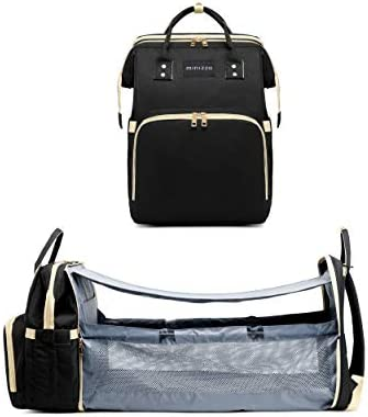 Minizza Diaper Bag with Changing Station Nappy Changing Backpacks Diaper Bag with Bassinet Folding product image