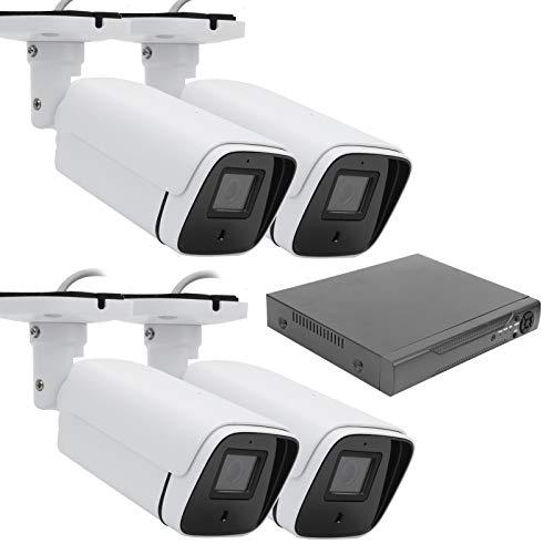 zcyg Cámara Cámara de vigilancia Cámara de Seguridad Cámara De Bala, Cámara De Vigilancia De 4 Canales 1080P 2MP AHD Sistema De Disco Duro Grabador De Video para La Seguridad del Hogar
