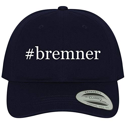 The Town Butler #Bremner - A Comfortable Adjustable Hashtag Dad Baseball Hat, Navy, One Size