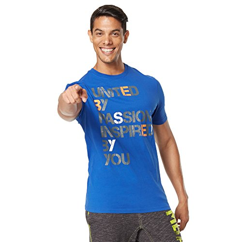 Zumba Fitness United Graphic tee Camiseta, Hombre, Gris, XS