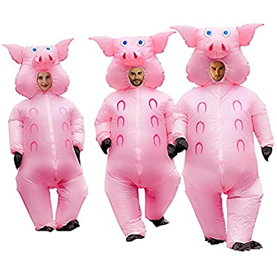 Inflatable Pig Costume Christmas Costumes Fancy Dress Masquerade Funny Cosplay Party Clothes for Adult (1pcs) by RHYTHMARTS
