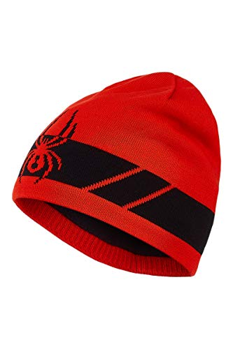Spyder- Bonnet - rouge et noir - Taille Unique