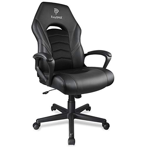 EasySMX Gaming Chair Racing Office Computer Game Chair Ergonomic Backrest PC Gaming Desk Chair, Office Computer Gamer Swivel Recling Chairs with Arms For Adults and Kids