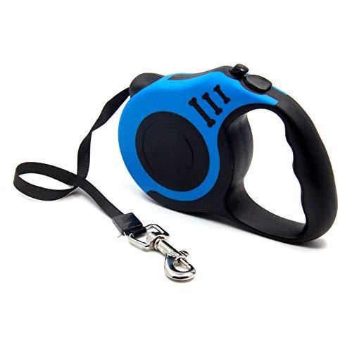 FISHSHOP Einziehbare Hundeleine Roll-Leine Einziehbare Hundeleine,Professionelles Haustier-Gehgerät,Aufrollbare Hundeleine 5m aus Polyester mit Handgriff