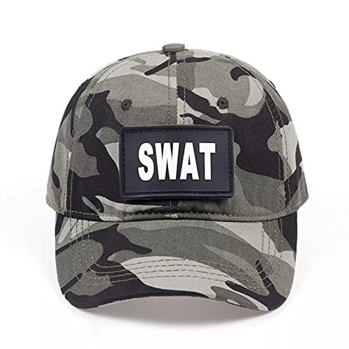 TDPYT Gorra de béisbol para Hombre Gorra de béisbol para Hombre Gorra de Camuflaje de Camuflaje swat de EE. UU. Protección Solar al Aire Libre Regalo para el