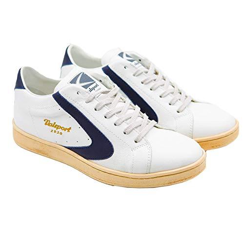Valsport Scarpe Uomo Sneaker Tournament Nappa Bianco Blue 44