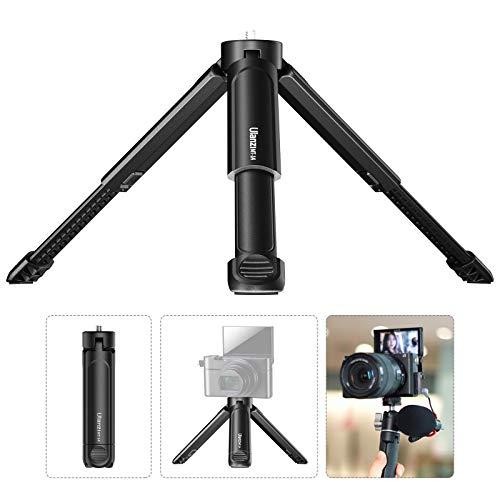 Stativkamera Kompatibel mit Canon / ZV1 für Sony / Nikon DSLR, ausziehbare Stativkamera Camcorder Stativ Einbeinstativ, 1/4 Schraubstativ und Griffstabilisator