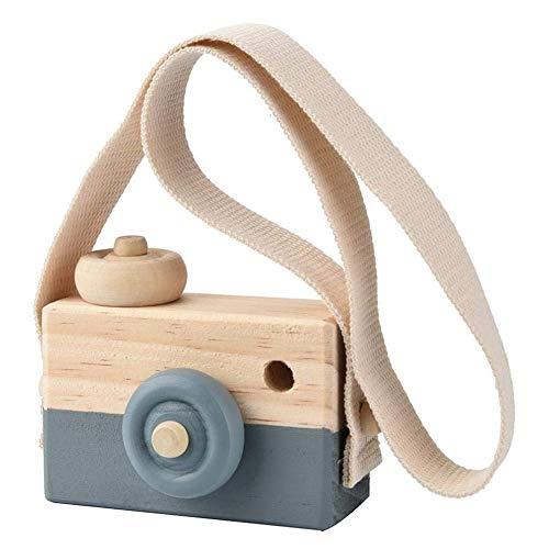 BESTEU Holz Mini Kamera Spielzeug Kissen Kinderzimmer hängen Dekor tragbare Spielzeug Geschenk