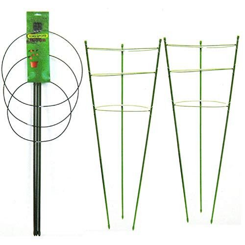 """SETROVIC 90"""" Plant Support Cages with 3 Adjustable Rings, Growth Cage Support Tomato Trellis Climbing Plants Flowers Vegetables for Home Garden Balcony, 3Pcs"""